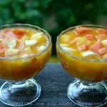 Salade de fruits éxotiques tropicaux sud américaine