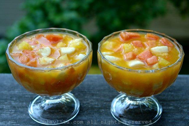 Salade de fruits tropicaux équatorienne