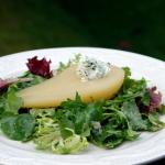 Salade de poires et fromage de chèvre