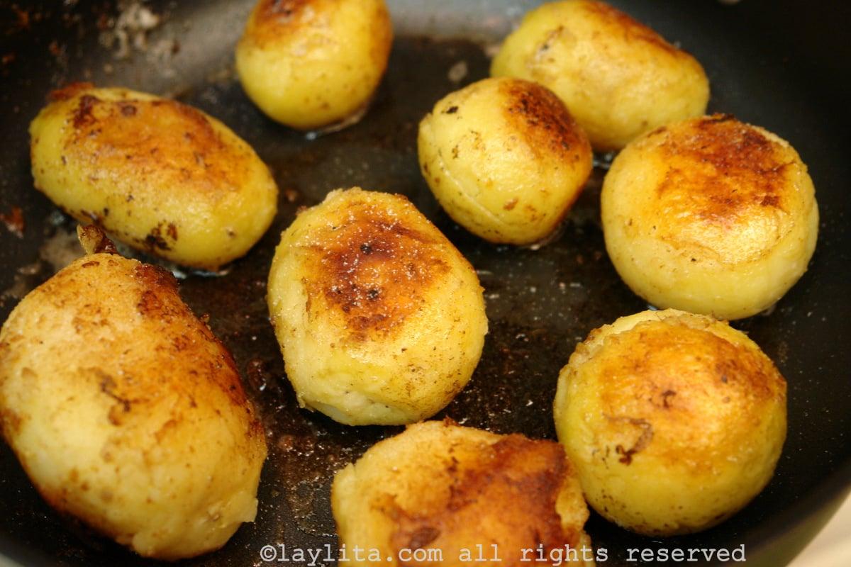 Les pommes de terre sautées au beurre