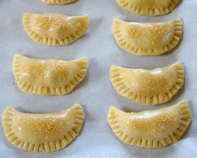 Recette pour préparation de la pâte d'empanadas sucrées
