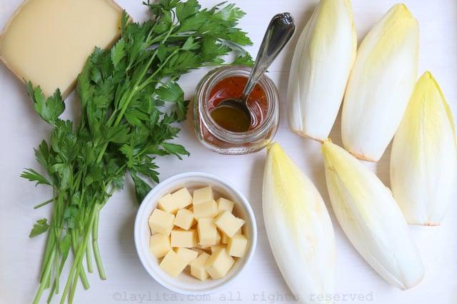 La salade d'endives au fromage