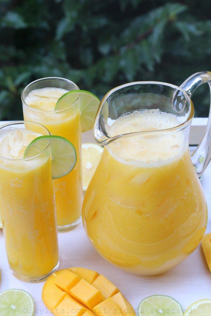 Jus de mangue au citron