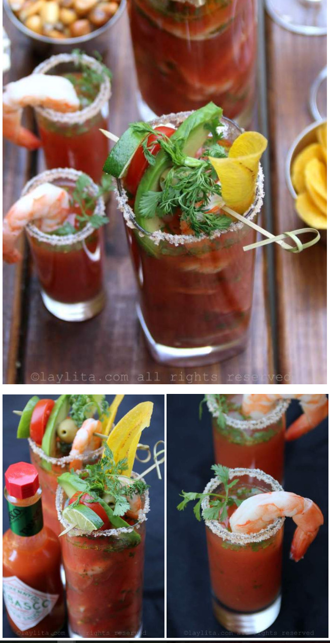 Cocktail Bloody Mary aux crevettes