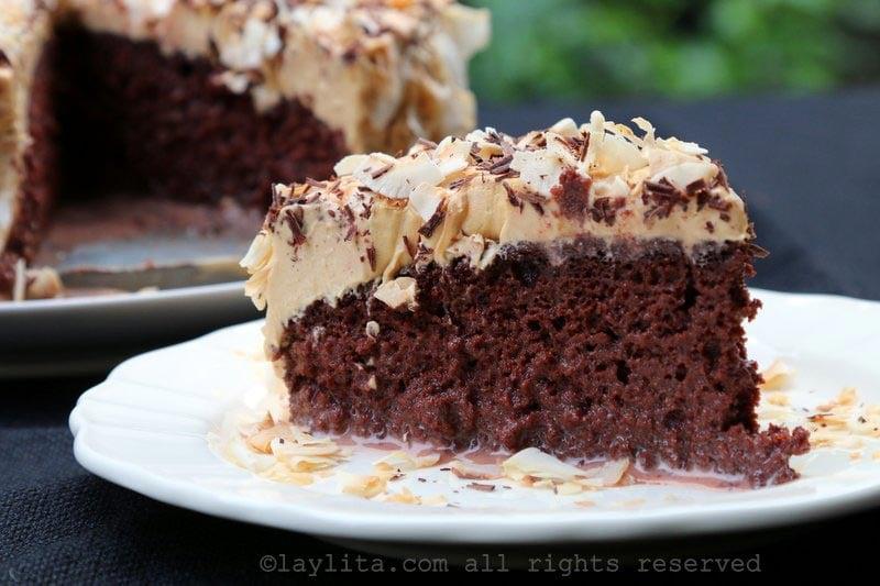 Gâteau tres leches au chocolat