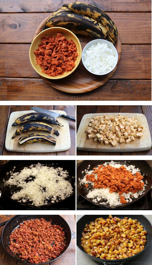 Preparation du hachis picadillo, 1ère partie