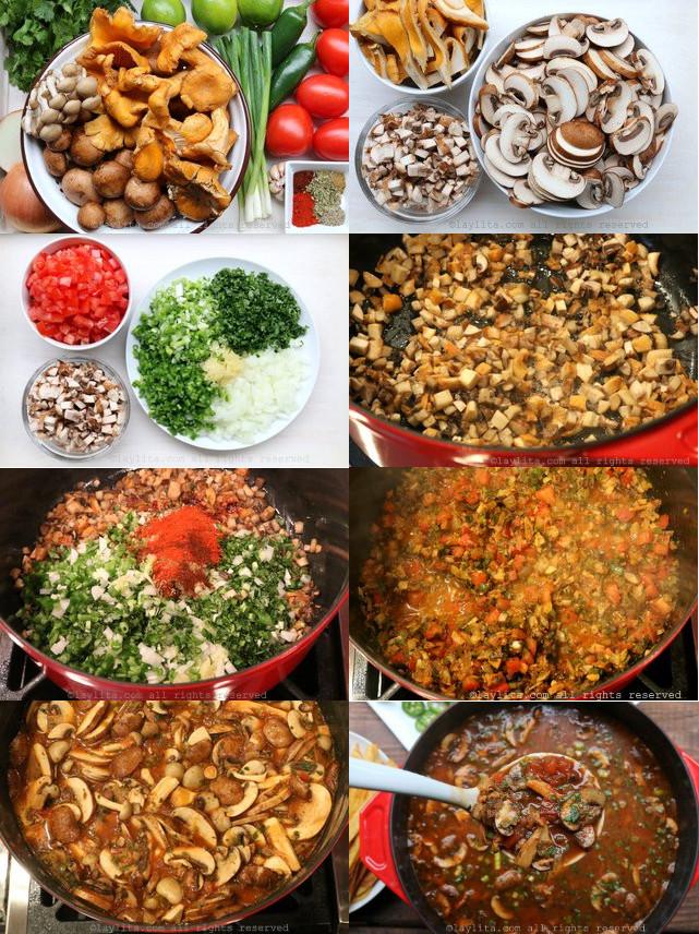 Soupe de champignons et tortillas mexicaines - Recettes de ...