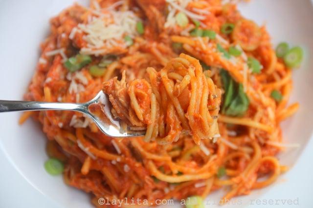 Spaghettis au poulet