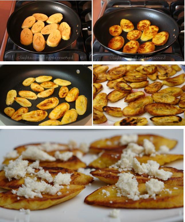 Préparation des frites de bananes plantain