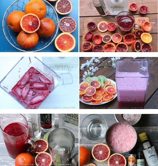 Préparation du pisco sour rouge