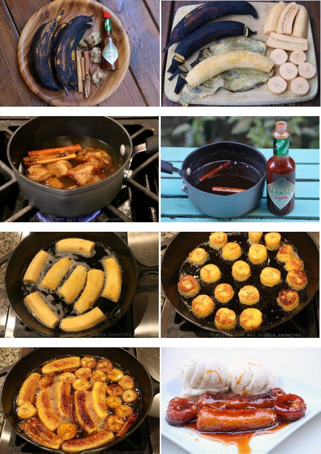 préparation et cuisson des bananes plantain au caramel