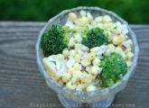 Salade de broccolis, maïs et pommes de terre