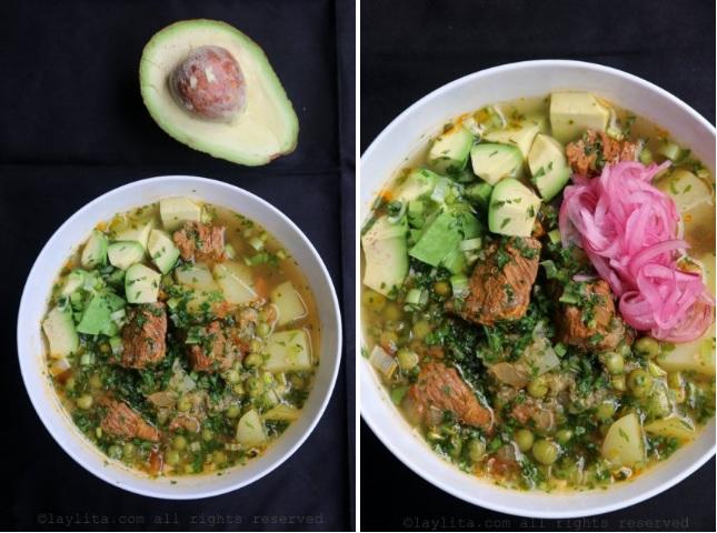 Présentation du quinoa au bœuf en soupe