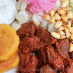 Carne colorada équatorienne, viande marinée au roucou