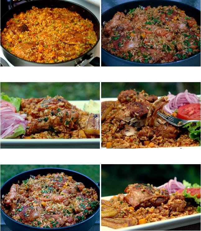 Photos de présentation et décoration du poulet au riz et ses épices