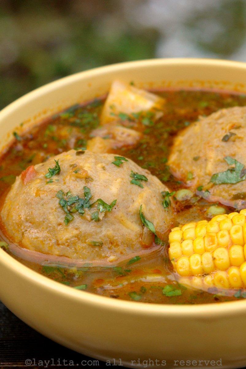 Bouillon de boulettes plantain et viande
