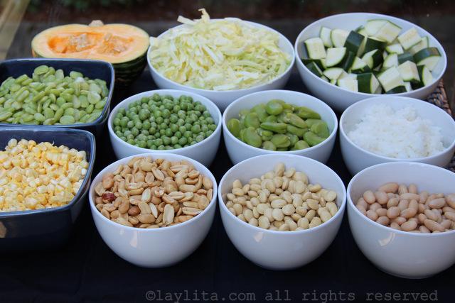 Ingrédients pour la soupe Fanesca