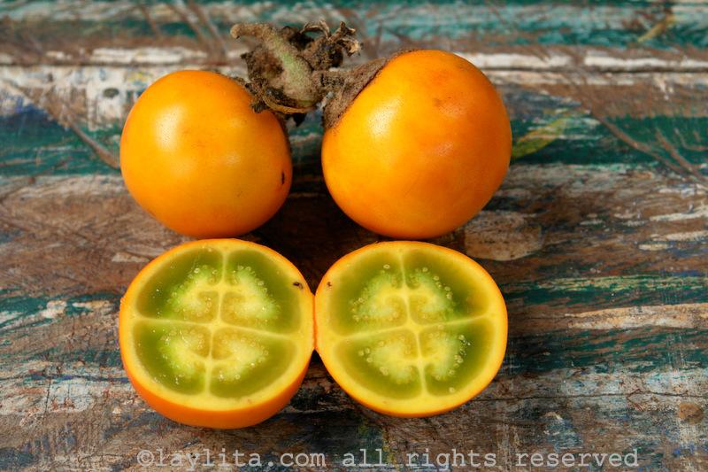 La naranjille, fruit Équatorien