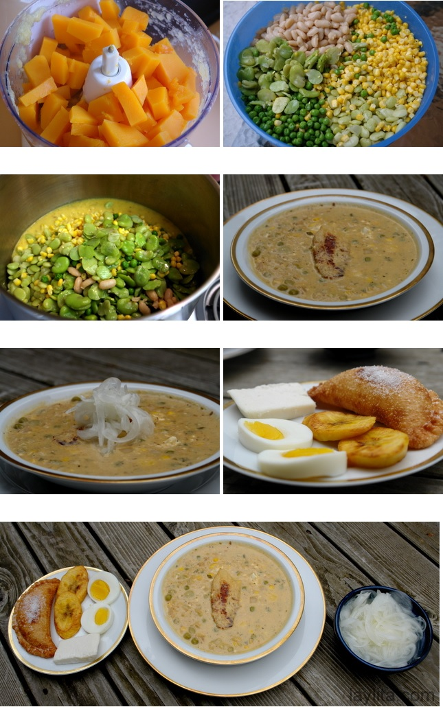 Préparation de la soupe Fanesca