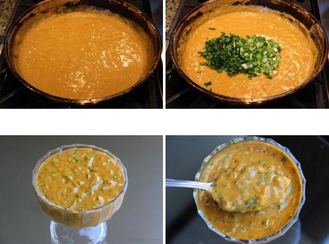 Préparation de recette sauce aux cacahuètes