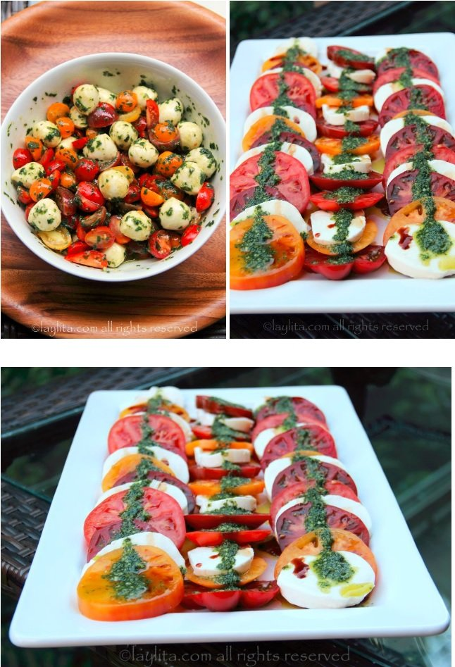 Les plus belles salades caprese