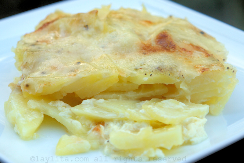 Gratin de patates montagnard