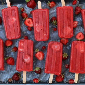 glaces aux fraises individuelles faites maison