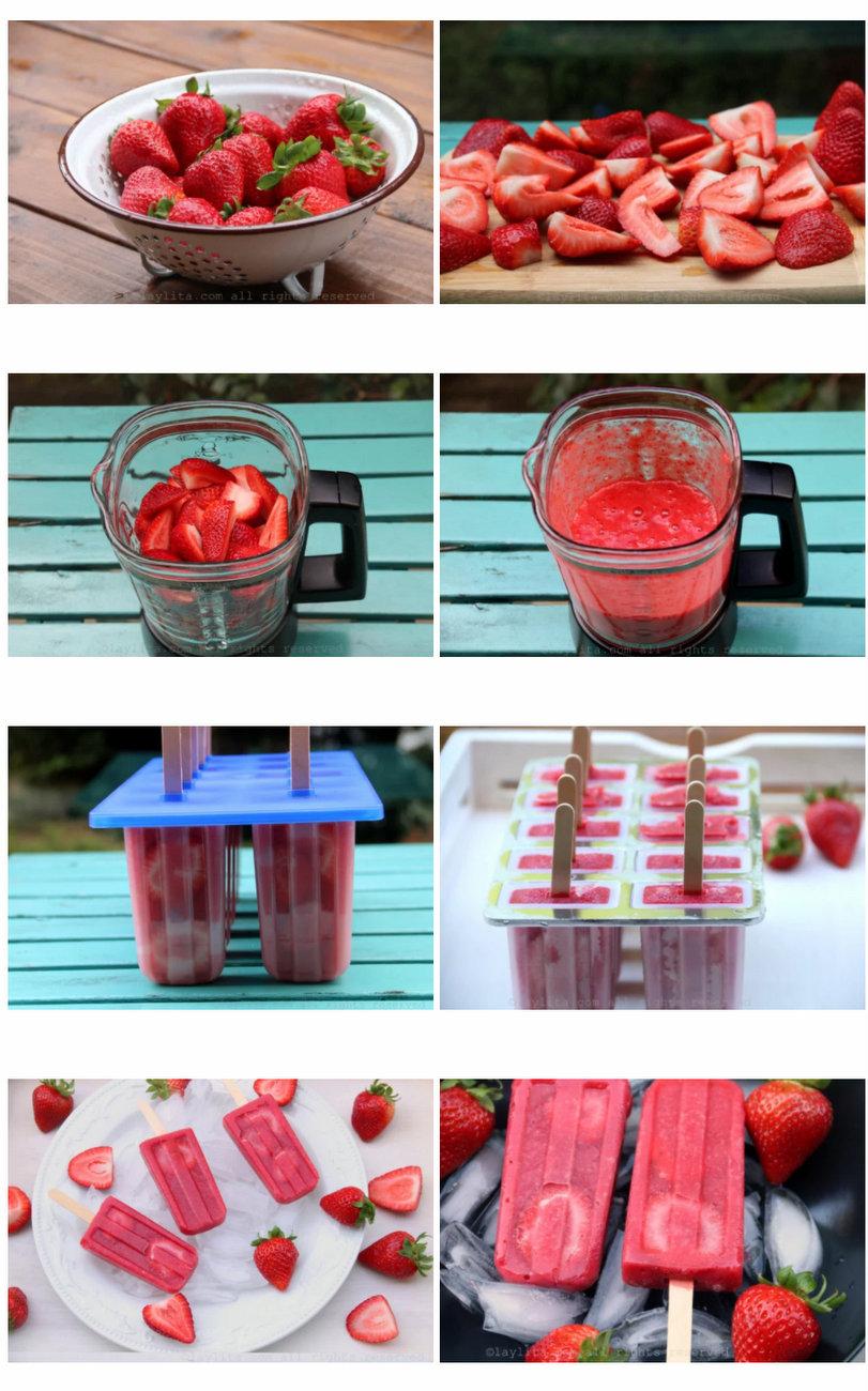 méthode de préparation des sorbets aux fraises