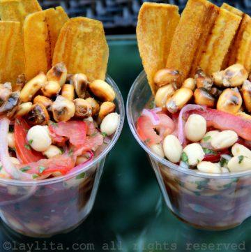 Ceviche aux chochos végétarien et vegan