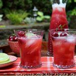 Boisson de cerises fraiches en limonade