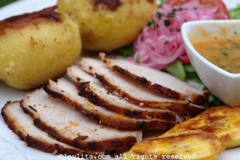 Longe de porc rôtie equatorien