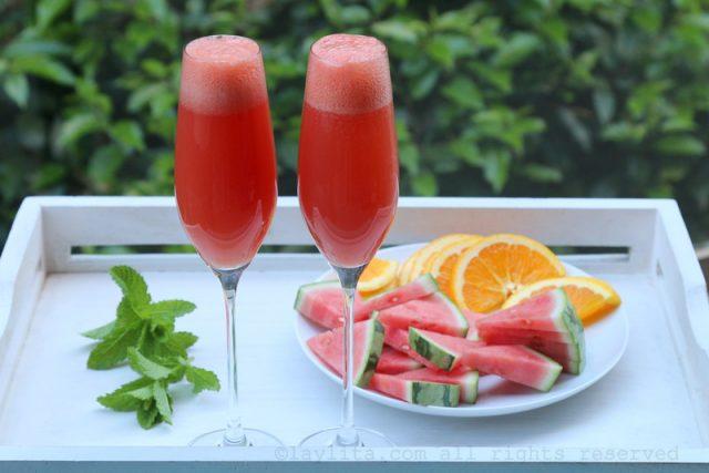 Recette Mimosa de pastèque