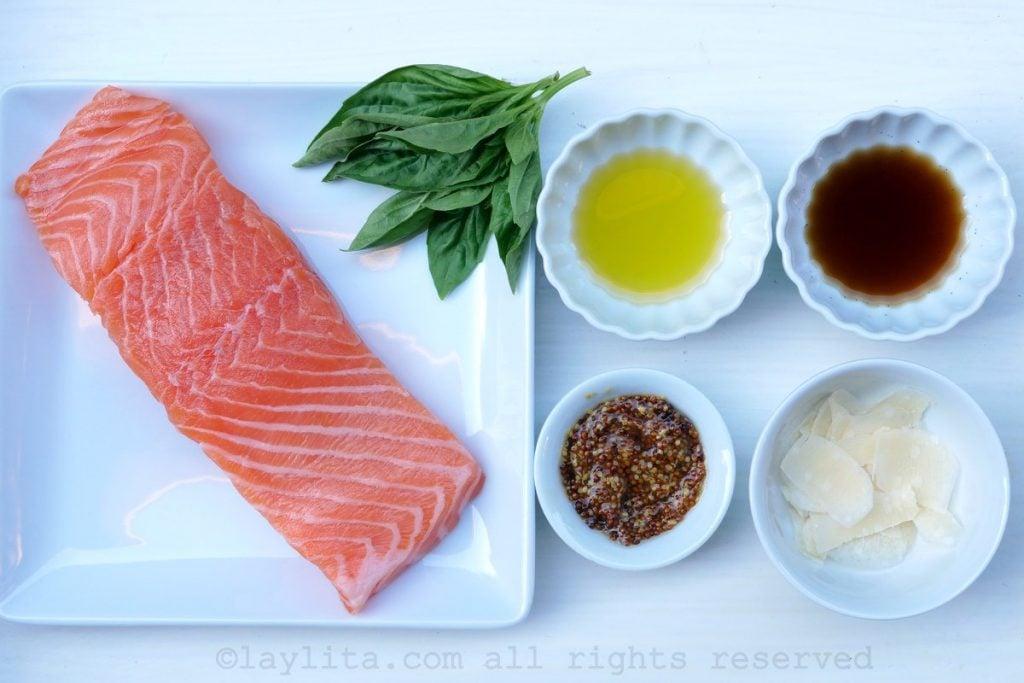 Ingrédients pour la recette tartare de saumon