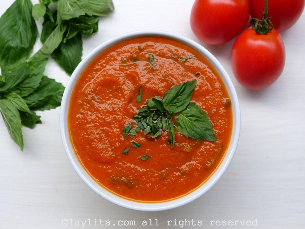 La sauce tomate au basilic