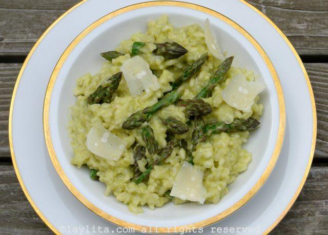 Recette du risotto aux asperges