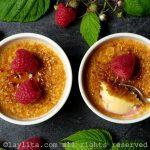Crème brulée aux framboises