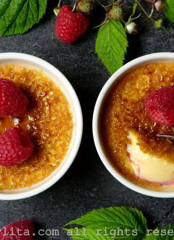 Recette de crème brulée framboise fruits rouges