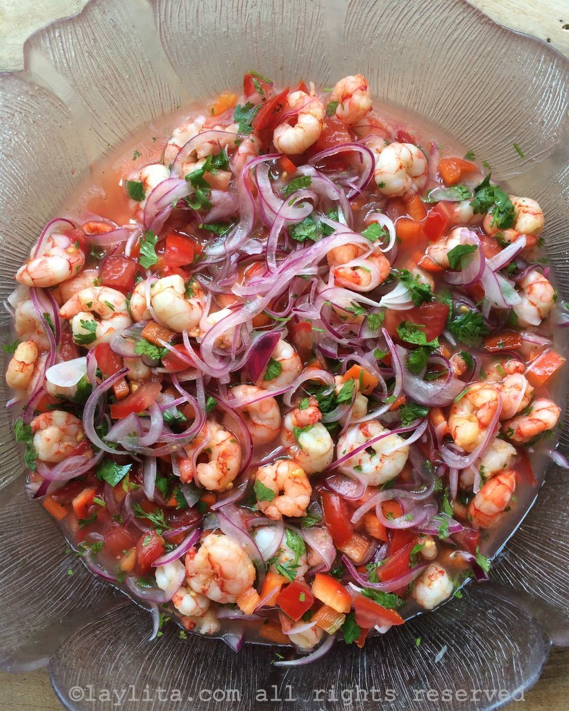Shrimp ceviche ceviche de camar n laylita 39 s recipes for Shrimp and fish ceviche