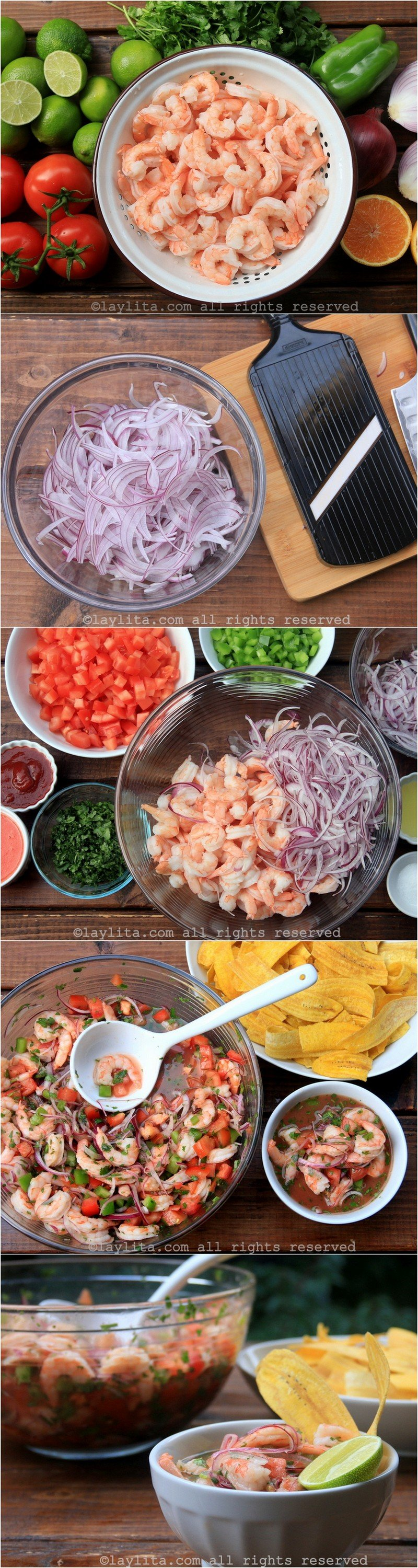 How to make Ecuadorian shrimp ceviche