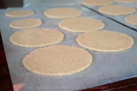 Preparacion de la masa para las empanadas de verde