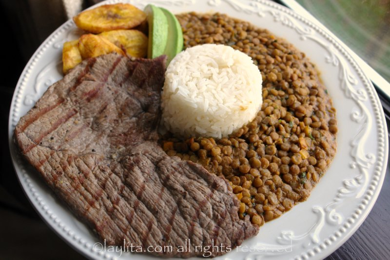 Carne asada or thin grilled steaks