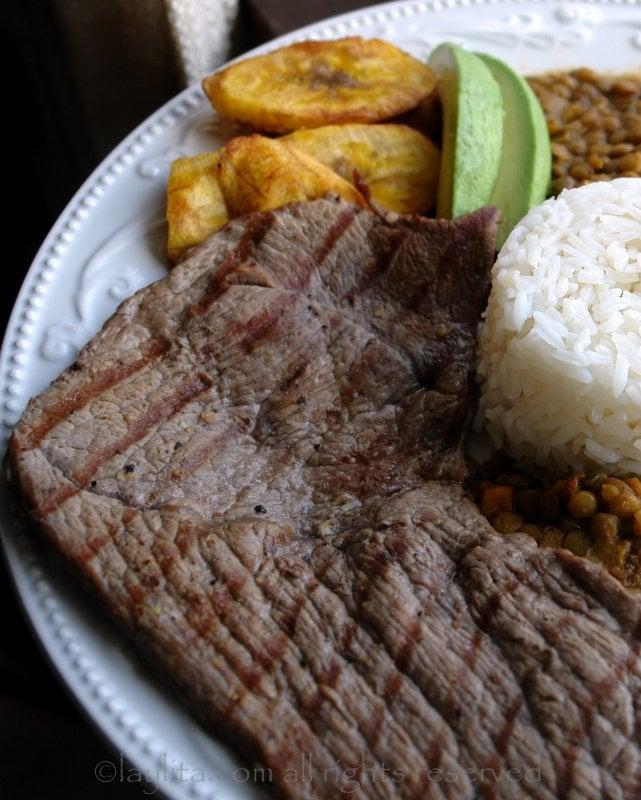 Ecuadorian carne asada recipe