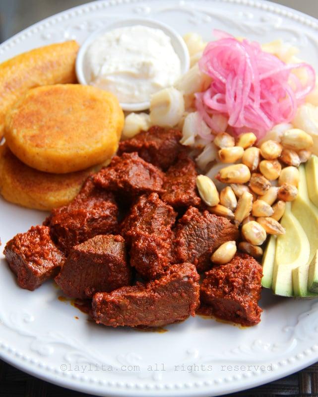 Carne colorada recipe