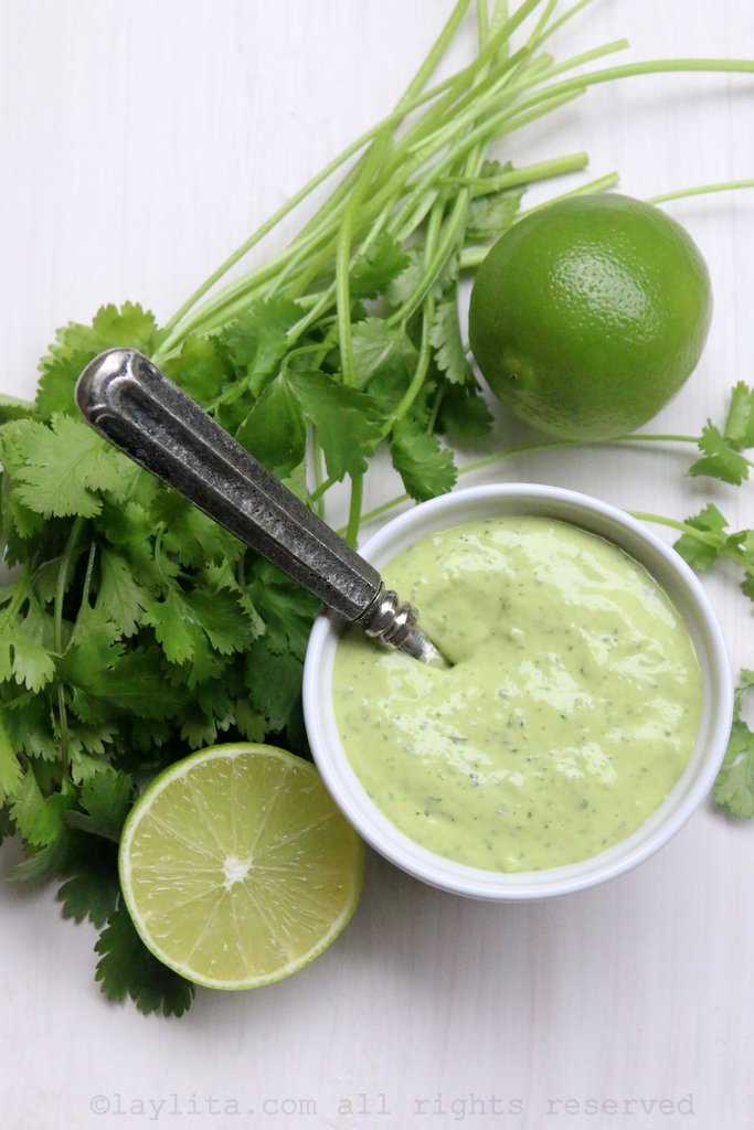Cilantro mayonnaise or cilantro aioli recipe