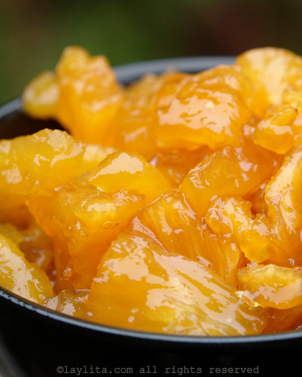Ecuadorian dulce de piña or caramelized pineapple