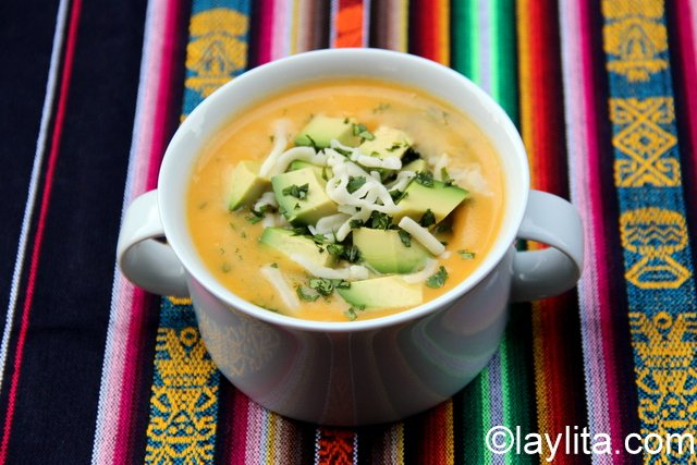 Locro de papa or Ecuadorian potato soup
