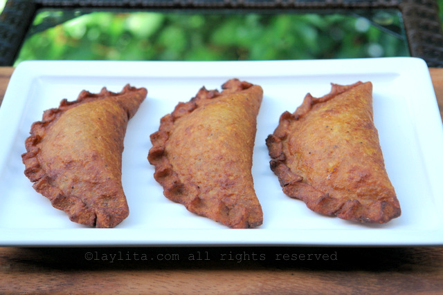 Gluten free empanadas made with green plantains