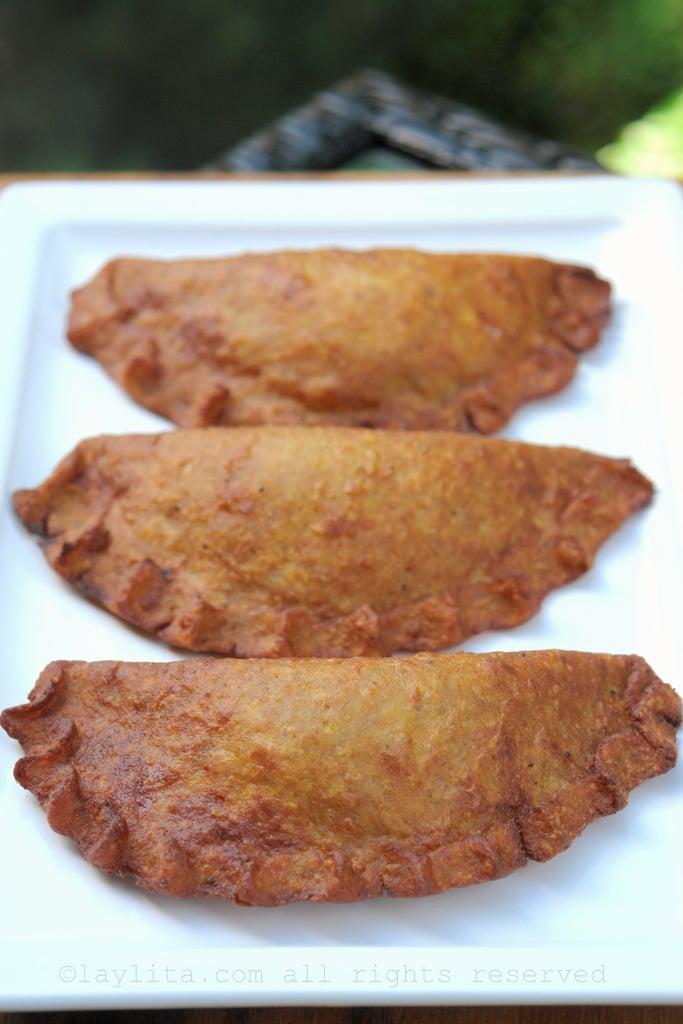 Green plantain empanadas or empanadas de verde