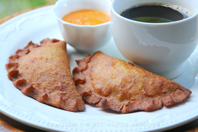 Green plantain empanadas with cheese