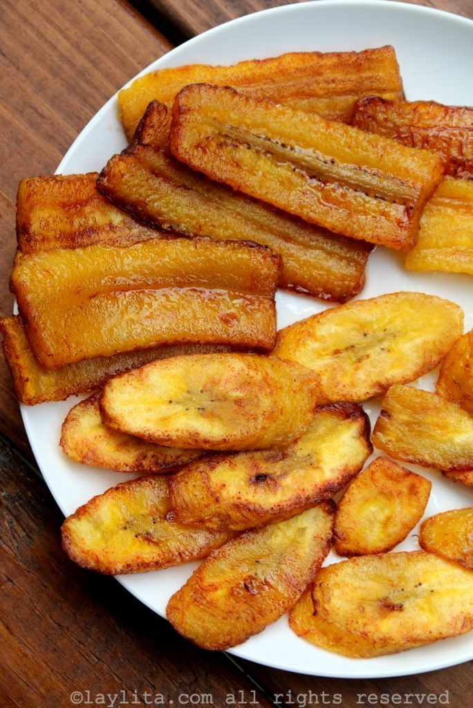 Maduros or fried ripe plantains recipe